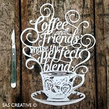SAS Creative Coffee Friends NEW Paper Cutting Template Available