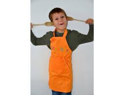 tablier de cuisine enfant tablier cuisine pour petit garçon ou fille orange ribambelle