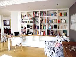 bureau bibliothèque intégré design d intérieur bureau integre bibliotheque racalisez votre