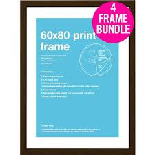 4 cadres pour posters taille 60 x 80 cm noix achat vente