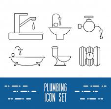 flach gesetztes symbol badezimmer design vektor illustration