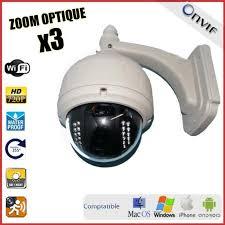 ip filaire exterieur dôme motorisé extérieur ip wifi hd 720p zoom x3 prix pas cher