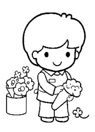 Coloring Pages Printable Flower Kid Sample Great Nice Wallpaper White Pictures Online Painting