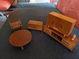 puppenstuben möbel wohnzimmer der 50er 70er jahre