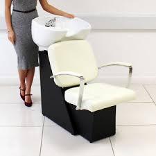 cream warm white hairdressing salon washing shampoo chair backwash