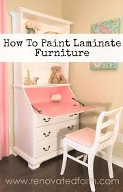 How To Paint Laminate Furniture So It Looks Like Painted Wood}