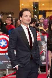 Sebastian Stan AnthonyMackie Caps Bestest Buddies At The Captain America Civil War