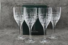 Ralph Lauren Cocktail Party Fine Crystal 15 Oz Water Goblets Set of