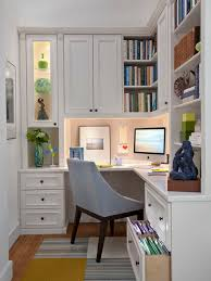 Example Of A Mid Sized Classic Built In Desk Medium Tone Wood Floor Study