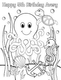 Printable Coloring Sheets Ocean Animals Pages Under The Sea For Preschool Book Of