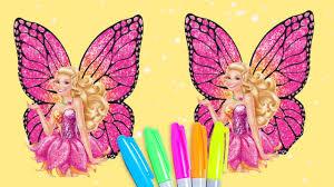 Barbie Mariposa Princess Coloring Book Glitter Rainbow For Kids