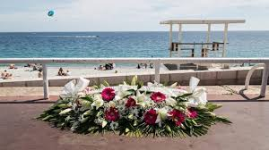 J7N4C4 Nice France 25th May 2017 Floral Tributes Remain In Place Along The Promenade Des Anglais Site Of Last Years Terror Attack