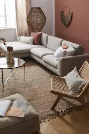 sofa styling boho wandfarbe wohnzimmer wohnzimmer ideen