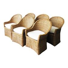 1970s Vintage Wicker Dining Chairs- Set Of 6 | Chairish Outdoor Wicker Ding Set Cape Cod Leste 5piece Tuck In Boulevard Ipirations Artiss 2x Rattan Chairs Fniture Garden Patio Louis French Antique White Back Chair Naturally Cane And Plantation Full Round Bay Gallery Store Shop Safavieh Woven Beacon Unfinished Natural Of 2 Pe Bah3927ntx2 Biscayne 7 Pc Alinum Resin Fortunoff Kubu Grey Dark Casa Bella Uk Target Australia Sebesi 2fox1600aset2