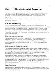 Phlebotomy Sample Resume Example Examples Fresh Professional Research Paper
