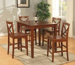 traditional casual dinette room design with asian solid wood pub