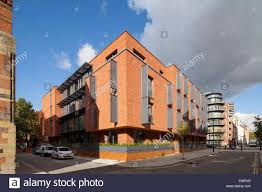 100 Contemporary Brick Architecture One Church Square London UK Exterior View Of The Apartment Stock