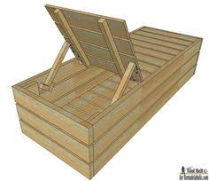 diy reclining outdoor lounge chair with storage outdoor lounge