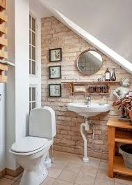 brick wallpaper bathroom ideas