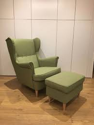 ikea strandmon wing chair footstool as new in merchiston