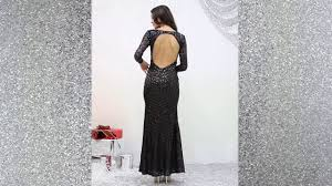 long sleeve maxi sequin dress in black christmas party dresses