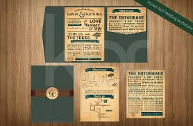 Rustic Romance 01 Pocket Fold Wedding Invitation