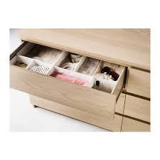 ikea malm commode 6 tiroirs malm commode 6 tiroirs plaqué chêne blanchi malm chene blanchi