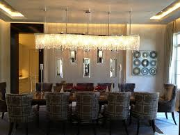 Image Of Contemporary Dining Room Chandeliers Long