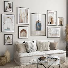 islamic mosque building moroccan marrakech architecture door stairs landscape wall canvas painting nordic posters and prints wall pictures for