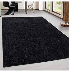 teppich kurzflor modern wohnzimmer einfarbig meliert uni günstig versch farben anthrazit 60x100 cm