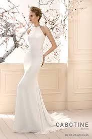 Wedding Gown 5306 Sparkling Venice Lace Appliques on Chiffon