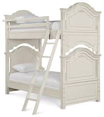 Octavia Lace White Bunk Bed Traditional Bunk Beds by Totally