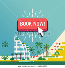 Cool Vector Design On Book Now Beach Hotel Resort Background Ideal For Travel