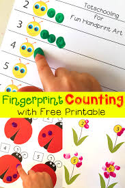 Fingerprint Counting Printables For Spring