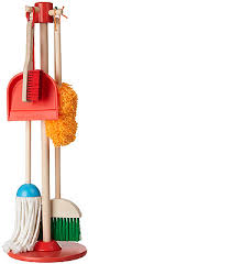 melissa doug let s play house dust sweep mop wooden play set