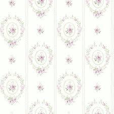 Shabby Chic Wallpaper Wreaths Sage Green Uk