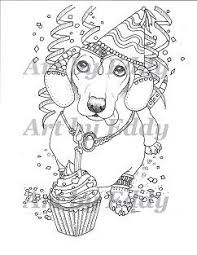 This Coloring Page Consists Of 1 Hand Drawn Image A Beautiful Dachshund For You To