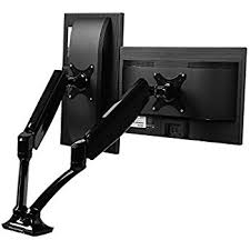 amazon com loctek d5d dual monitor mount lcd arm full motion