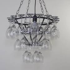 3 Tier Wine Glass Chandelier White From Litecraft Picture Kit Diy ... Lighting Lamp Wine Glasses Chandelier Pottery Barn Chandeliers Glass Ebay The Lush Nest Eat Host Dwell Recycled Beaded Blue Shades Maria Theresa Murano Globe Kitchen Best Simple Inspiration Litecraft Your Home Youtube Design Emery