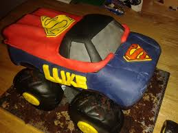 99 How To Make A Monster Truck Cake Superman Monster Truck Cake Superman Cake Birthdaycake Flickr