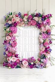 Such A Gorgeous Floral Seating Card Display By Phillipa Craddock Flowers Great Use For The Laser Cut Wooden Frames Sold At Michaels