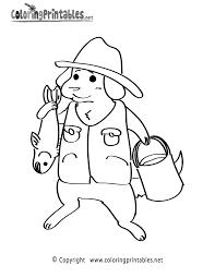 Fisherman Coloring Page Printable