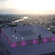 100 Infinity Swimming Worlds First 360degree Infinity Pool Proposed For London Skyline
