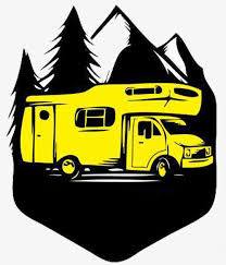 Stylish Car Park Icon Rv Camping Vacation Black PNG Image And Clipart