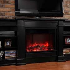 Rustic Style Family Room Decor With TV Stand Electric Fireplace