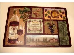 grapes wine themed placemats set 4 placemats only 19 95 fine