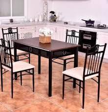 Giantex 5 Piece Wood Table Modern Dining Room Furniture Set