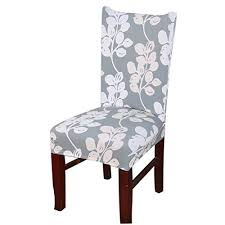 Dining Room Stretch Printed Chair Cover Spandex Lycra Uni