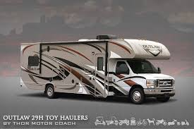 Itasca Class C Rv Floor Plans by One Of A Kind Class C Toy Hauler The Outlaw 29h Thor