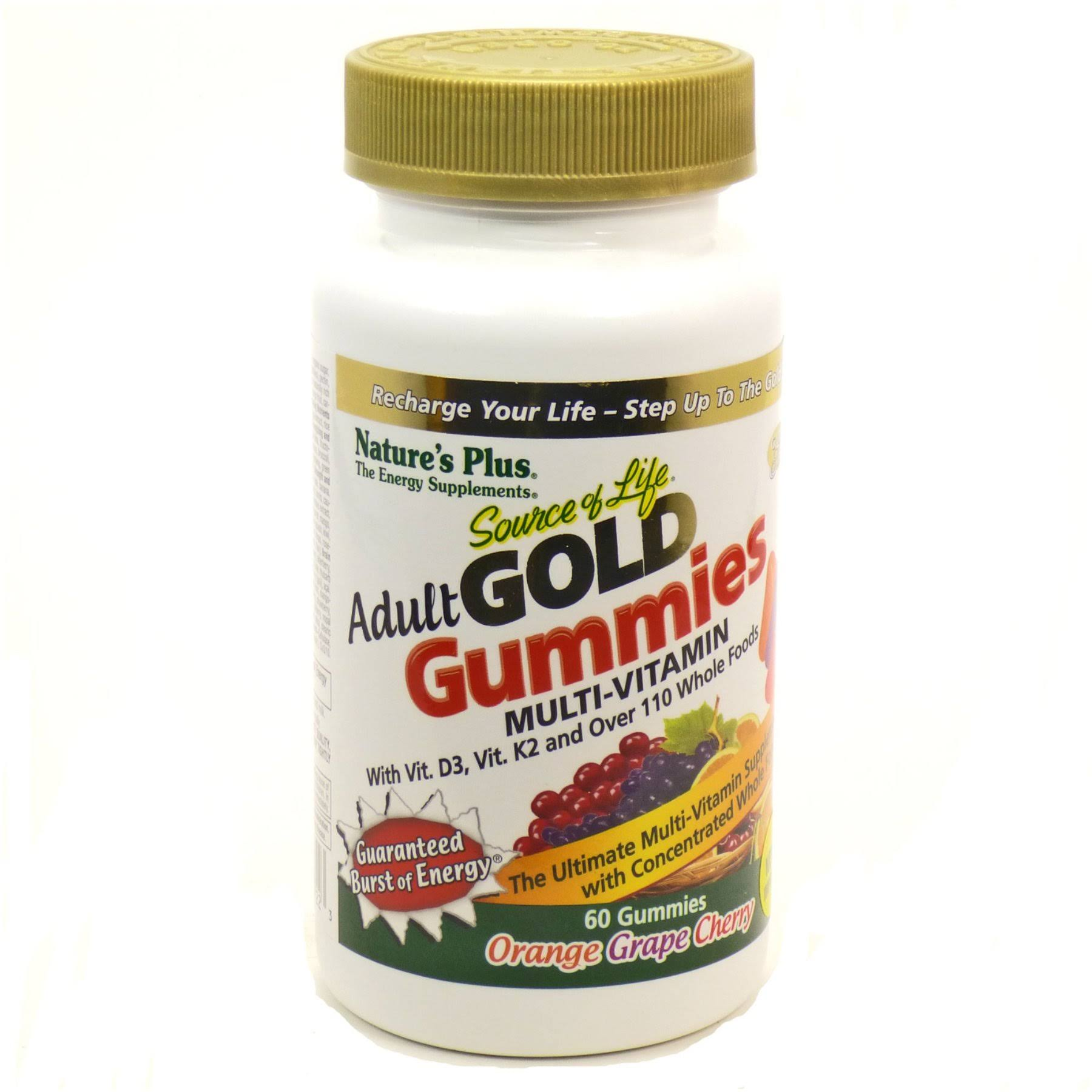 Nature's Plus Source of Life Gold Adult Multi-Vitamin Gummies